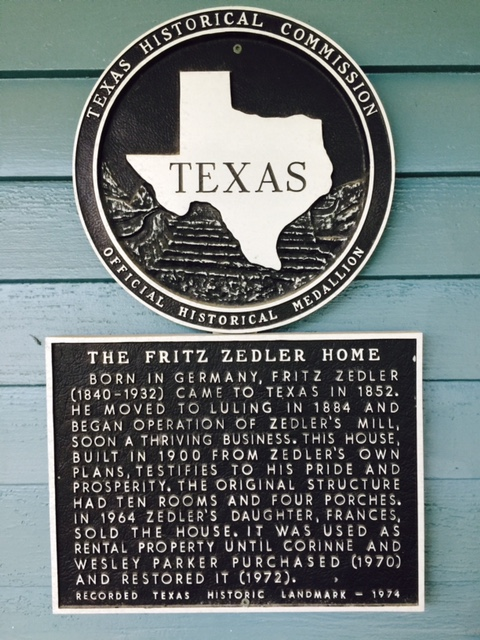 Historical Sign-Zedler House